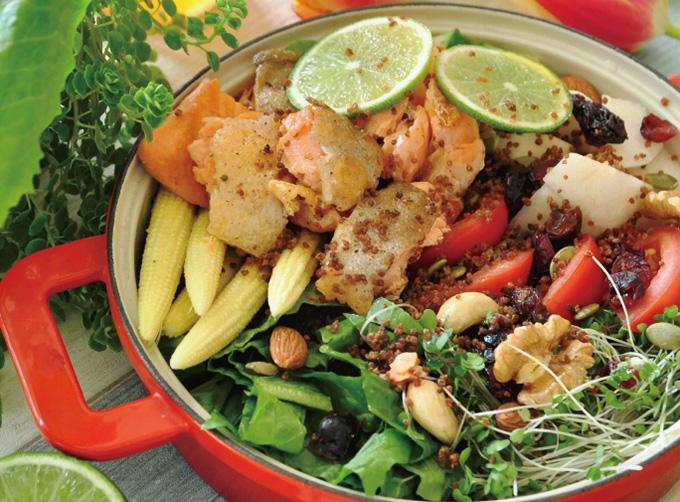 鮭魚藜麥 優格溫沙拉